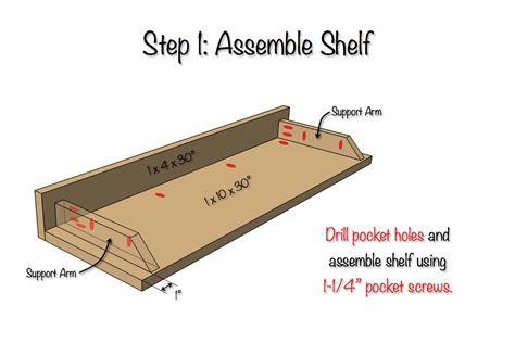 Diy-Secret-Floating-Shelf-Plans