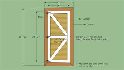 Diy-Shed-Door-Plans