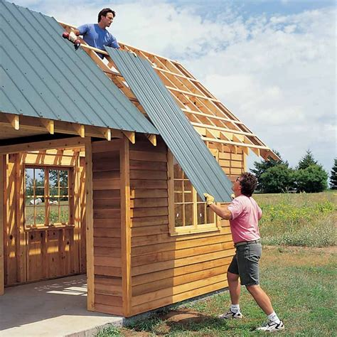 Diy-Shed-Metal-Roof