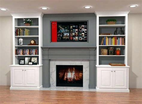 Diy-Shelves-Around-Fireplace