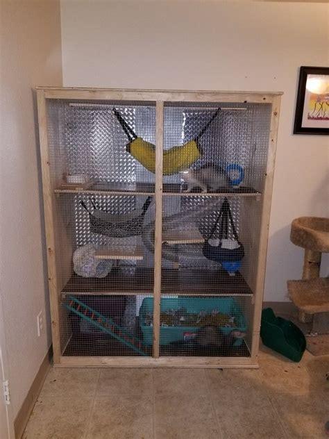 Diy-Shelves-For-Ferret-Cage