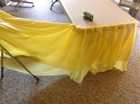 Diy-Shimmery-Table-Skirt-Using-Disposable-Table-Skirt