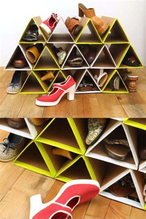 Diy-Shoe-Rack-With-Cardboard-Box