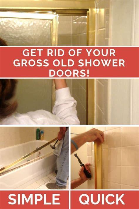 Diy-Shower-Door-Removal
