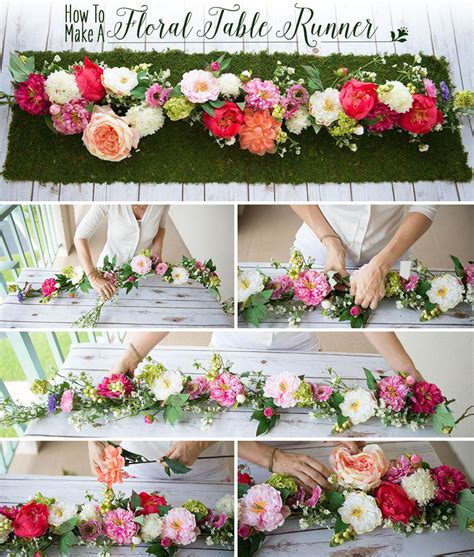Diy-Silk-Flower-Table-Runner