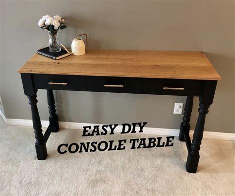 Diy-Simple-Console-Table