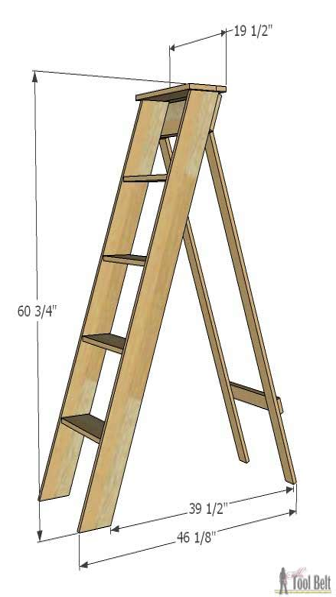 Diy-Simple-Wooden-Ladder