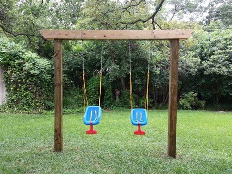 Diy-Single-Post-Swing-Set