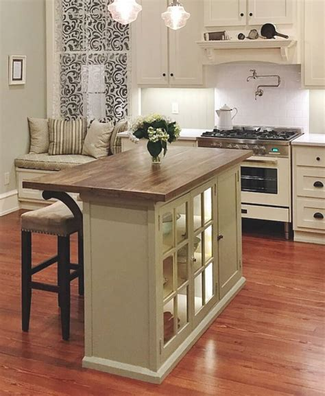 Diy-Small-Kitchen-Island-With-Seating