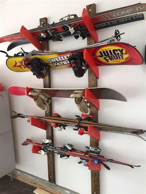Diy-Snowboard-Rack-Garage