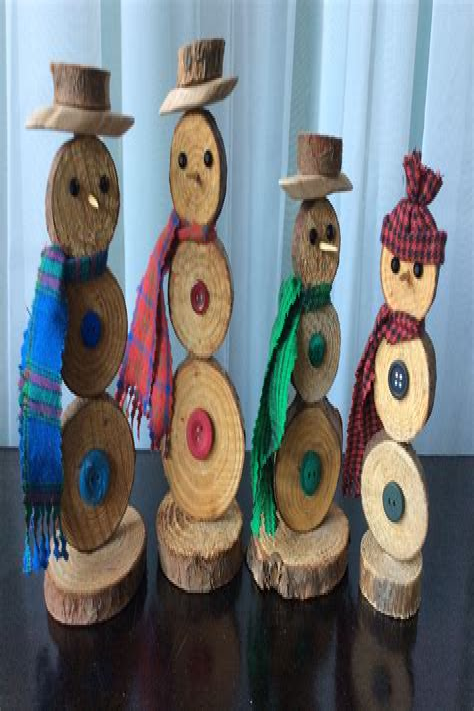 Diy-Snowman-Wood-Slices