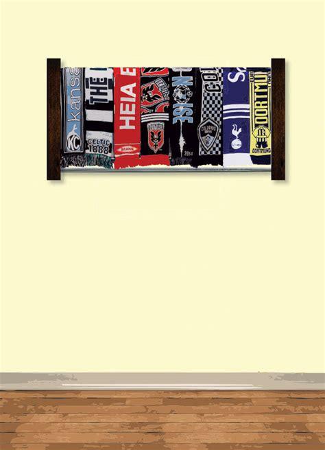 Diy-Soccer-Scarf-Rack