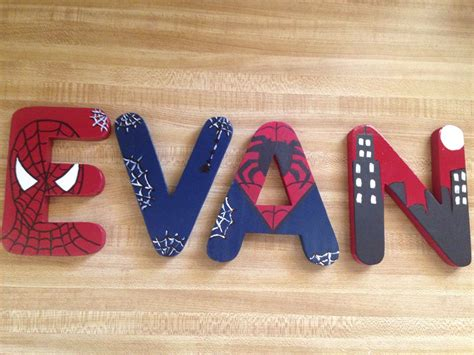 Diy-Spiderman-Wooden-Letters