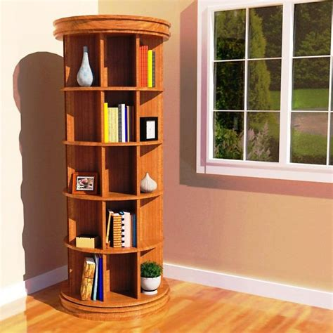 Diy-Spinning-Bookcase