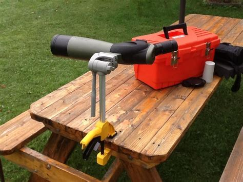 Diy-Spotting-Scope-Bench-Clamp