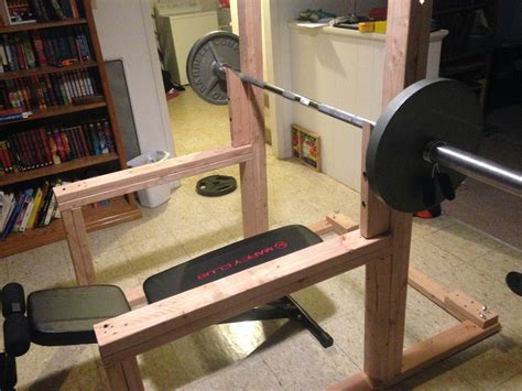 Diy-Squat-Rack-Bench-Press
