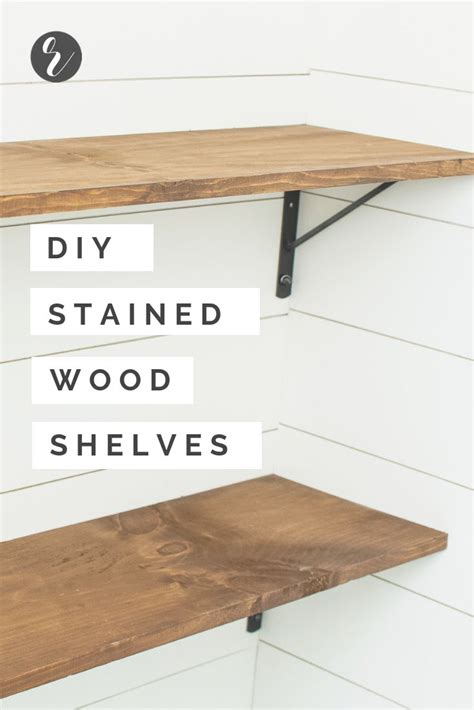 Diy-Stained-Wood-Shelves
