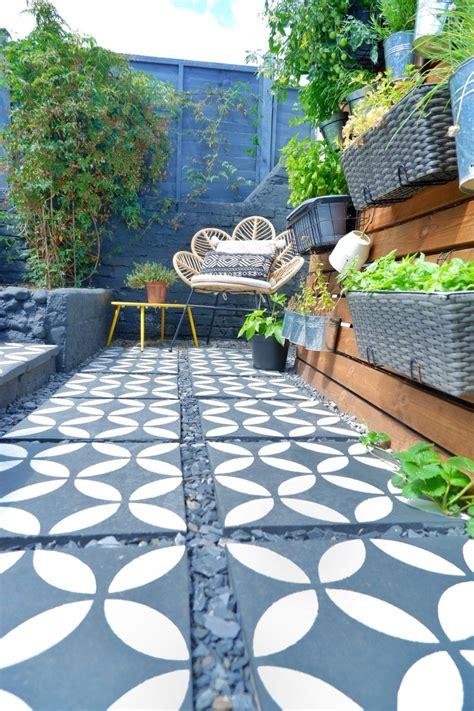 Diy-Stenciled-Cement-Patio