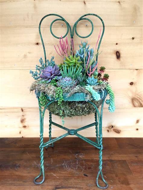 Diy-Succulent-Chair-Planter