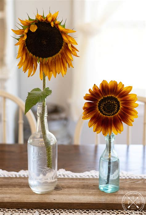 Diy-Sunflower-Table-Centerpieces-Photo-Holder