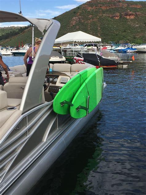 Diy-Sup-Rack-For-Pontoon-Boat