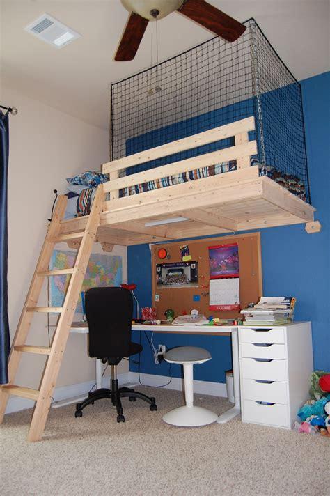 Diy-Suspended-Loft-Bed