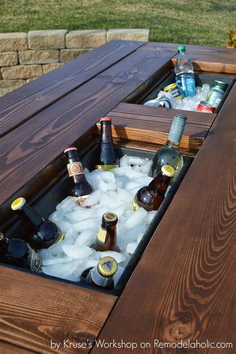 Diy-Table-Drink-Cooler