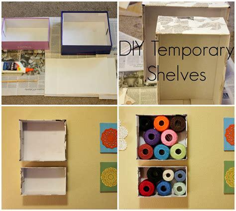 Diy-Temporary-Shelves