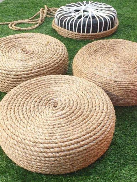 Diy-Tire-Chair-With-Rope