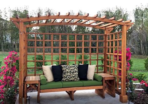Diy-Trellis-With-Bench