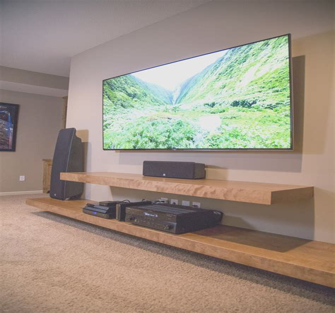 Diy-Tv-Shelf-On-Wall