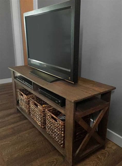 Diy-Tv-Stand-With-Baskets