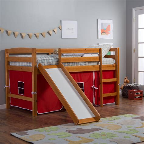 Diy-Twin-Loft-Bed-With-Slide