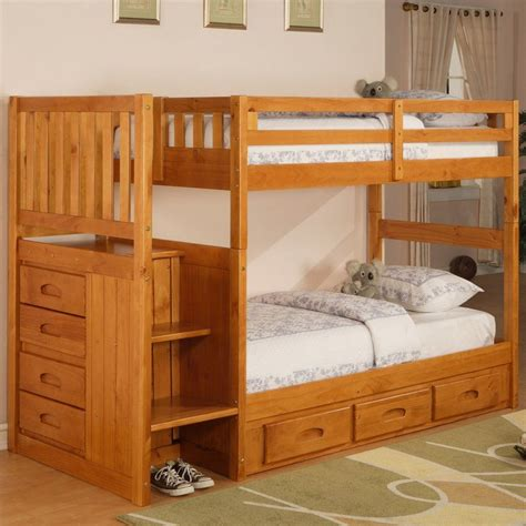 Diy-Twin-Loft-Bed-With-Stairs