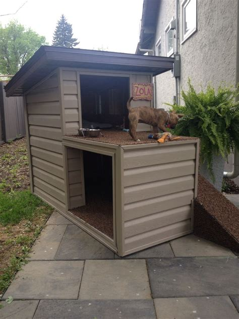 Diy-Two-Story-Dog-Pallet-House