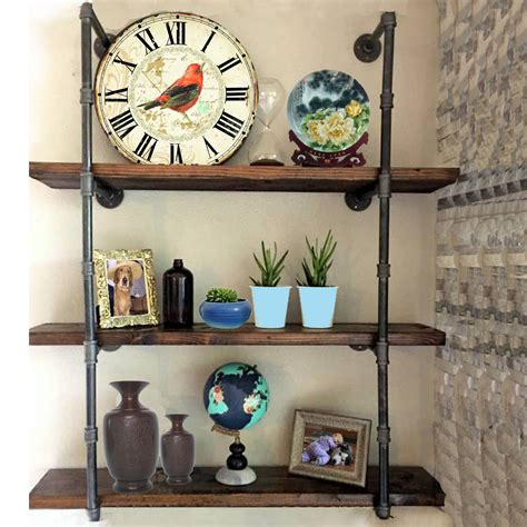 Diy-Wall-Mounted-Iron-Pipe-Shelves