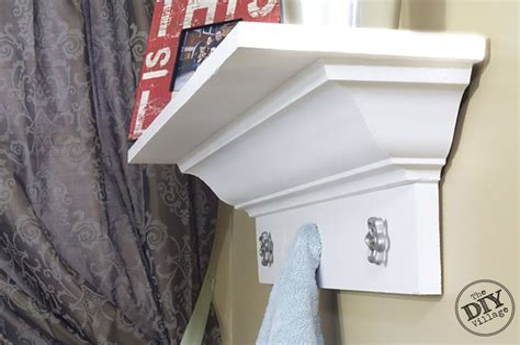 Diy-Wall-Shelf-With-Crown-Molding