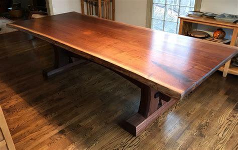 Diy-Walnut-Trestle-Table