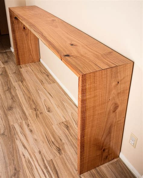 Diy-Waterfall-Console-Table