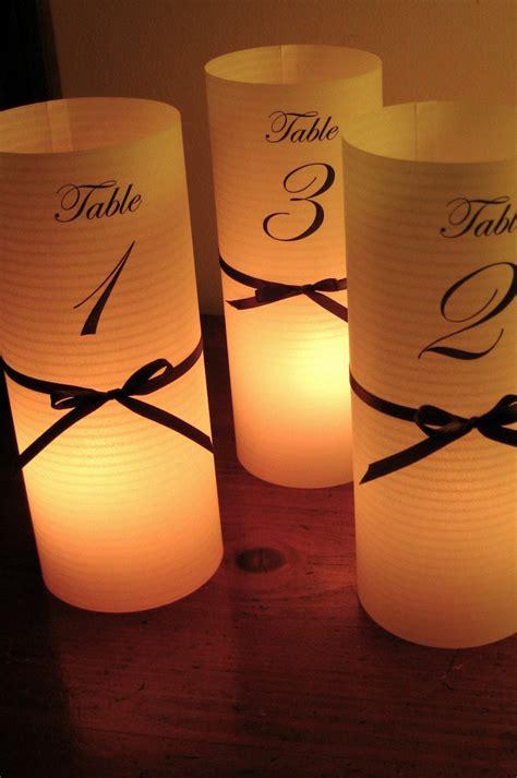 Diy-Wedding-Table-Number-Luminaries