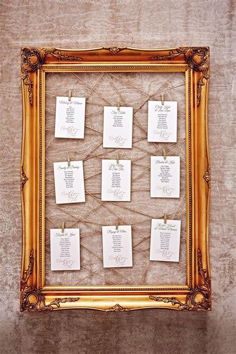 Diy-Wedding-Table-Plan-Frames