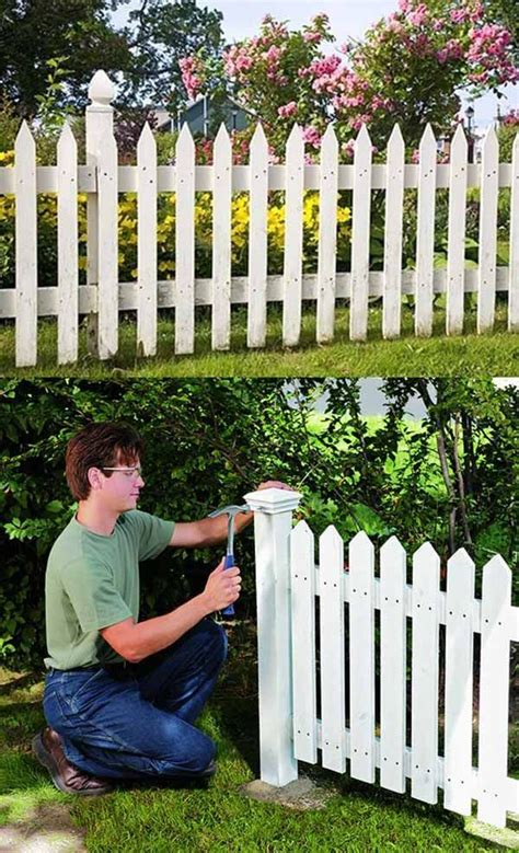 Diy-White-Wooden-Fence