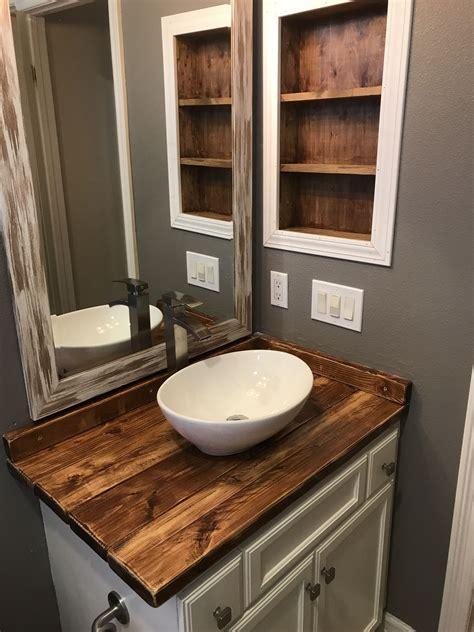 Diy-Wood-Bathroom-Vanity-With-Vessel-Sink