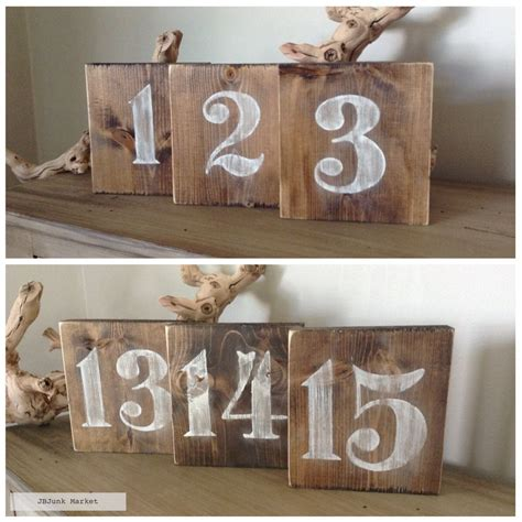 Diy-Wood-Block-Table-Number-For-Wedding