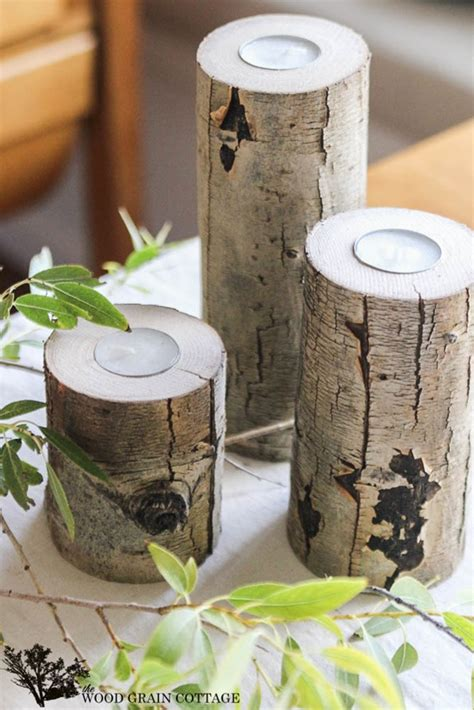 Diy-Wood-Branch-Candle-Holders