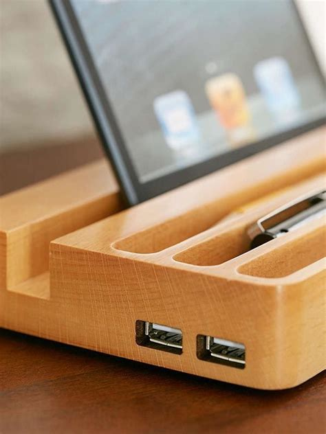 Diy-Wood-Charging-Station-Organizer