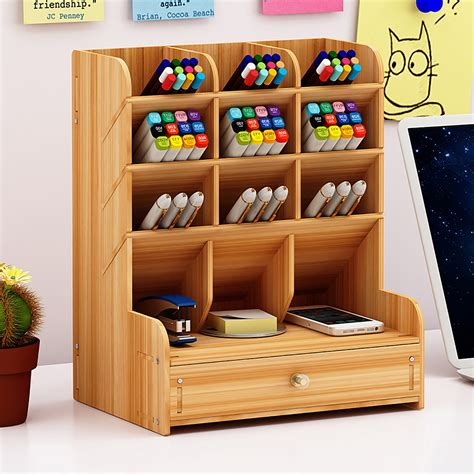 Diy-Wood-Desk-Organizer-Box