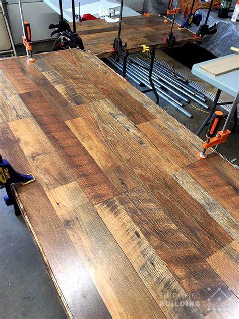 Diy-Wood-Desk-Top-With-Laminant