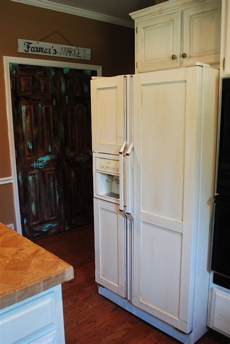 Diy-Wood-Doors-On-Refrigerator