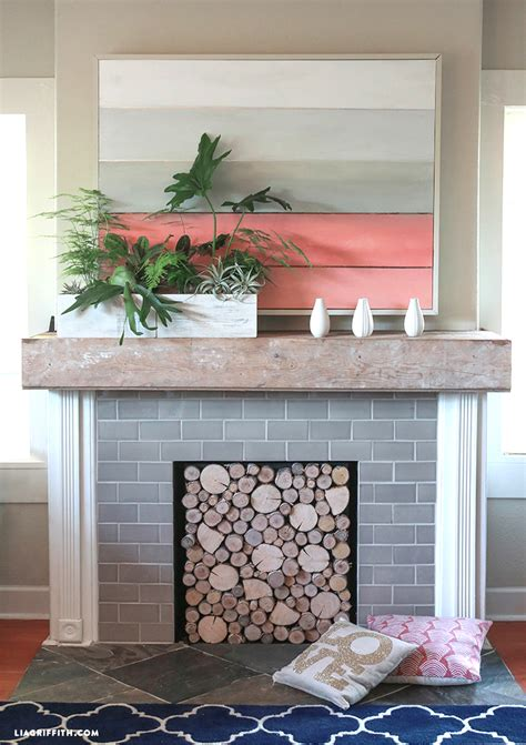 Diy-Wood-Fireplace-Cover